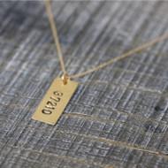 Zip Code Necklace