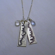 Two Cities and Two Stones Necklace
