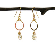 Bebe Hoop & Gemstone Earrings