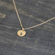 Mini Round Initial Necklace