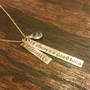 Necklace - It's Always a Good Idea - Hand Stamped - Gemstone