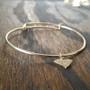 Bracelet - Adjustable - Hammered Brass State Charm