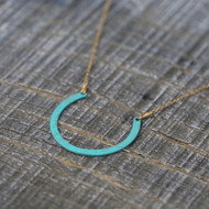 Patinated Horseshoe Necklace