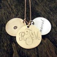 Monogram 3 Charm Necklace