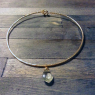 Hammered Bangle & Gemstone Bracelet