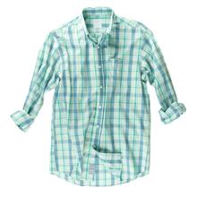 Plaid Sport Shirt - Gossamer Green