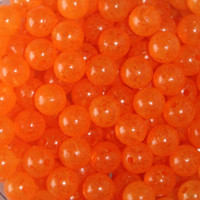 TroutBeads Mottled Orange Clear Roe three sizes available