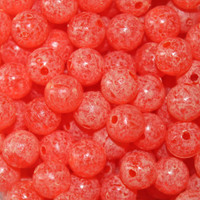 Troutbeads Mottled Tangerine Roe three sizes available