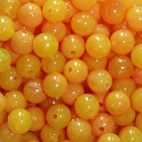 TroutBeads Egg Yolk three sizes available