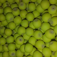 CREEK CANDY BEADS Fuzzy Chartreuse 8mm SINKZ (15 pack)