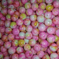 CREEK CANDY BEADS Strawberry Custard 8mm SINKZ (15 pack)