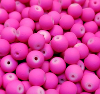CREEK CANDY BEADS Fuzzy Bubble Gum 8mm SINKZ (15 pack)