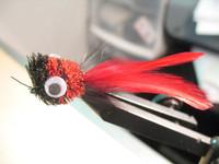 RED & BLACK BASS BUG