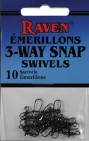 Raven 3-Way Snap Swivels (10 pack)