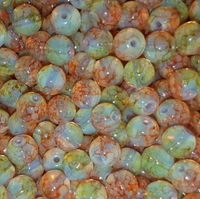 CREEK CANDY BEADS Clear Water Candy Corn 8mm SINKZ