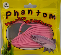 Phantom Wacky Wigglers - Flat Tail Worms (choose colour)