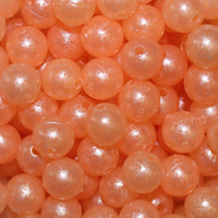 Troutbeads Mottled Peach Roe 2 sizes availabe