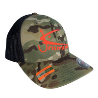 Fishheads MULTICAM Series Green Camo/Red - Trucker