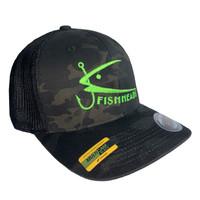 Fishheads MULTICAM Series Black Camo/Chartreuse - Trucker