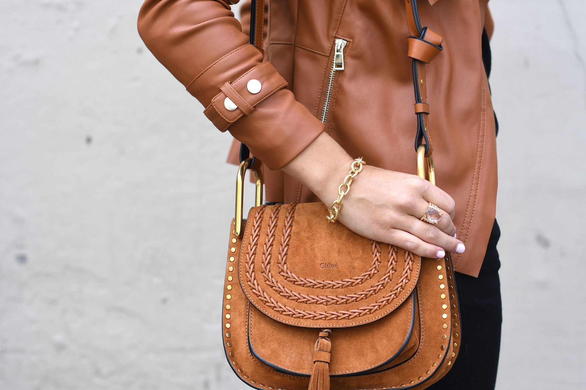 Brown Suede Chloe Bag