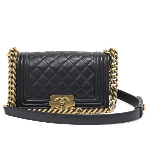 Chanel black boy bag