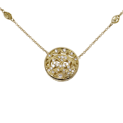 Tacori Champagne Sunset 18k & Diamond Necklace