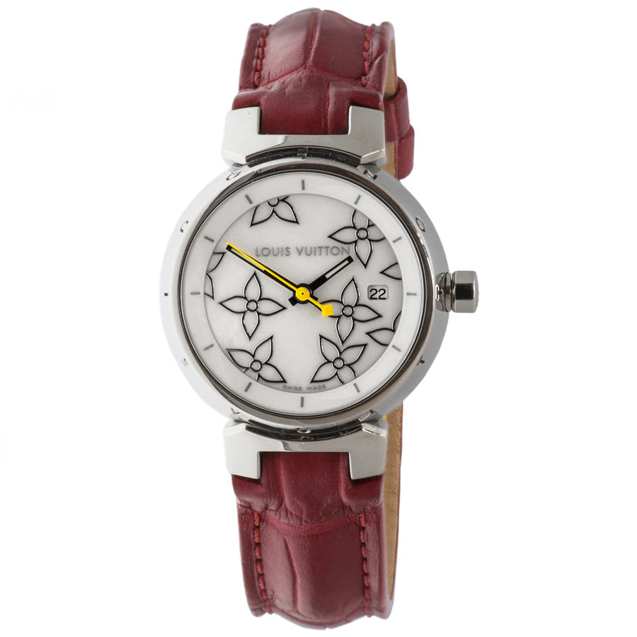 f09c6c14cfa Louis Vuitton Tambour Disc Mother of Pearl Watch - modaselle