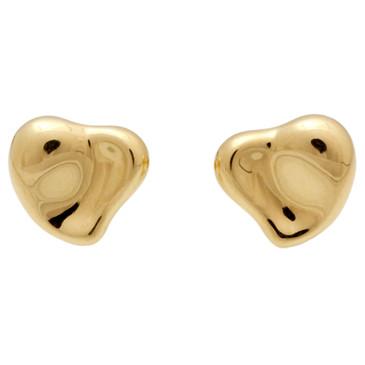 Tiffany & Co. 18k Full Heart Stud Earrings