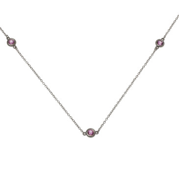 Tiffany & Co. Color by the Yard Pink Sapphire Necklace