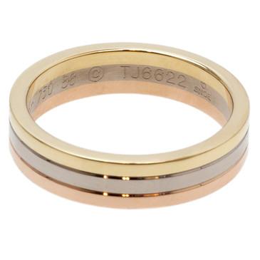 Cartier 18k Three Gold Wedding Band Ring