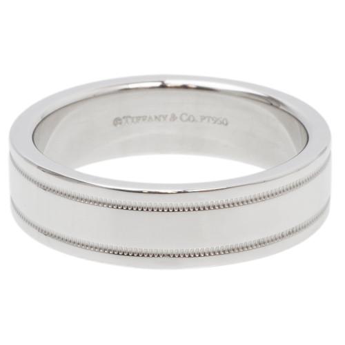 Tiffany Co Platinum Milgrain Wedding Band Ring modaselle