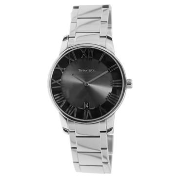 Tiffany & Co. Stainless Steel Atlas 2-Hand Quartz Watch