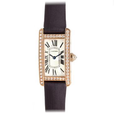 Cartier 18K Pink Gold & Diamond Tank Americaine Ladies Watch