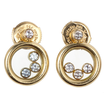 Chopard 18k Happy Diamonds Icons Earrings