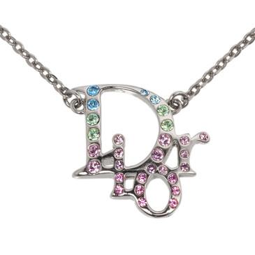 Christian Dior Crystal Logo Necklace