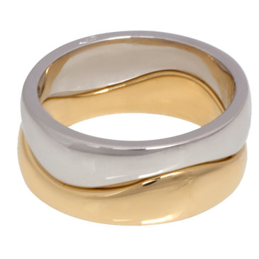 Cartier 18k Yellow & White Gold Stackable Ring Set