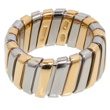 Bvlgari Bulgari 18k Two Tone Tubogas Ring