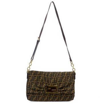 Fendi Zucca Canvas Mia Flap Bag