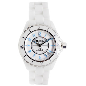 Chanel White Ceramic J12 Automatic Watch