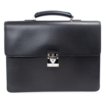 Louis Vuitton Black Epi Robusto 1 Compartment Briefcase