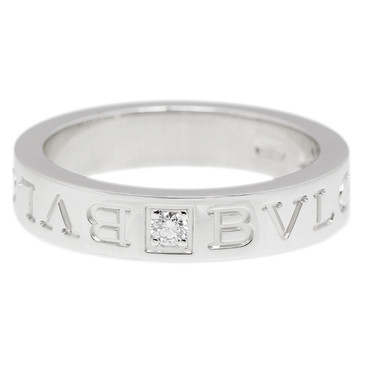 Bvlgari 18K White Gold Diamond Band Ring