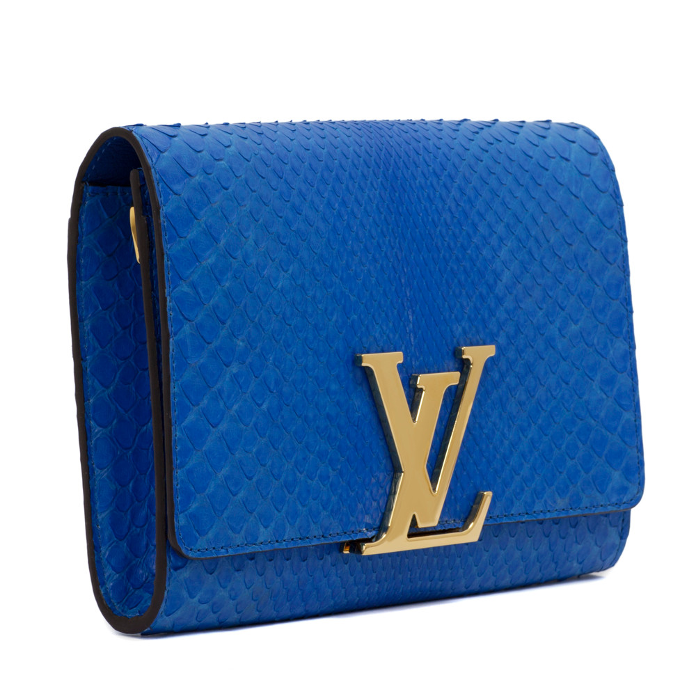 a875b6401abf5e Louis Vuitton Blue Python Louise GM - modaselle