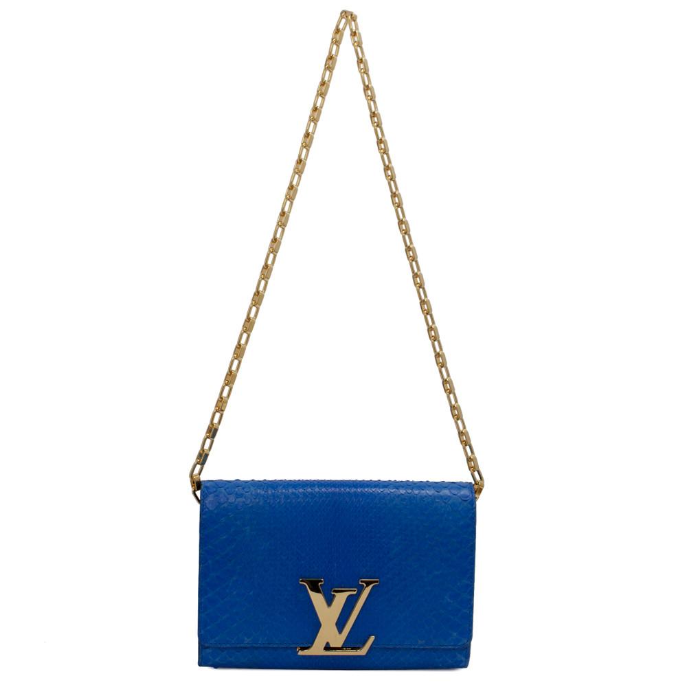 Louis Vuitton Blue Python Louise GM - modaselle 701226e5953