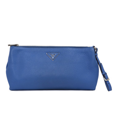 Prada Royal Blue Vitello Daino Clutch