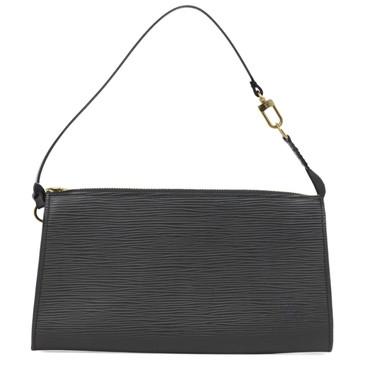 Louis Vuitton Black Epi Pochette Accessories 24