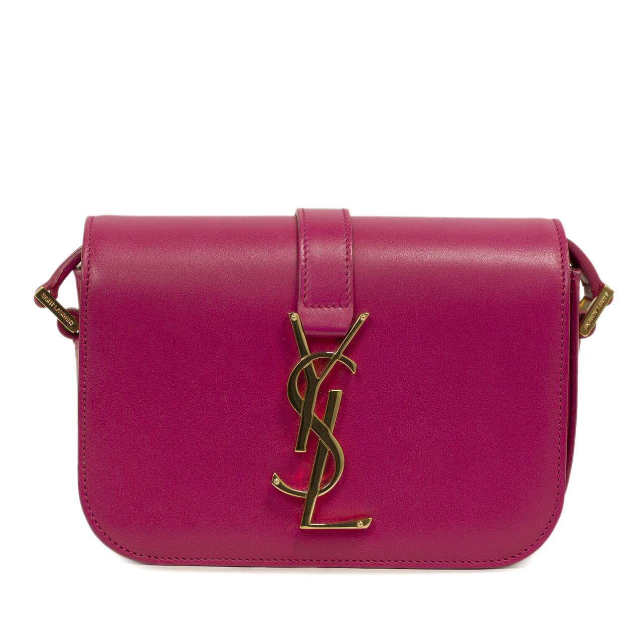 869478a2830e YSL Saint Laurent Pink Monogram Sac Universite Small Shoulder Bag
