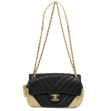 Chanel Chevron Quilted Lambskin Mini Easy Flap