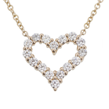 Tiffany co 18k rose gold hearts pendant modaselle tiffany co 18k rose gold hearts pendant aloadofball Image collections