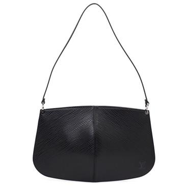Louis Vuitton Black Epi Leather Demi Lune Pochette
