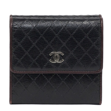 Chanel Quilted Embossed Leather Compact Wallet